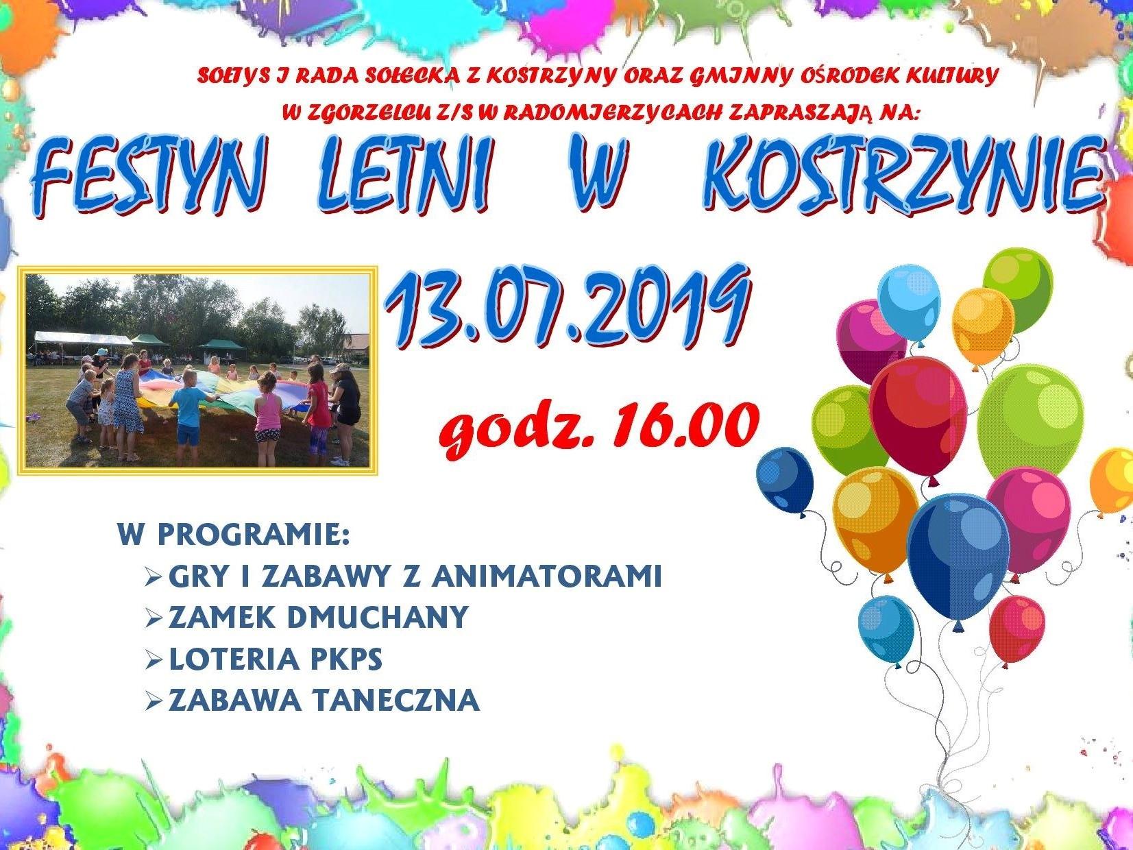 Festyn letni w Kostrzynie