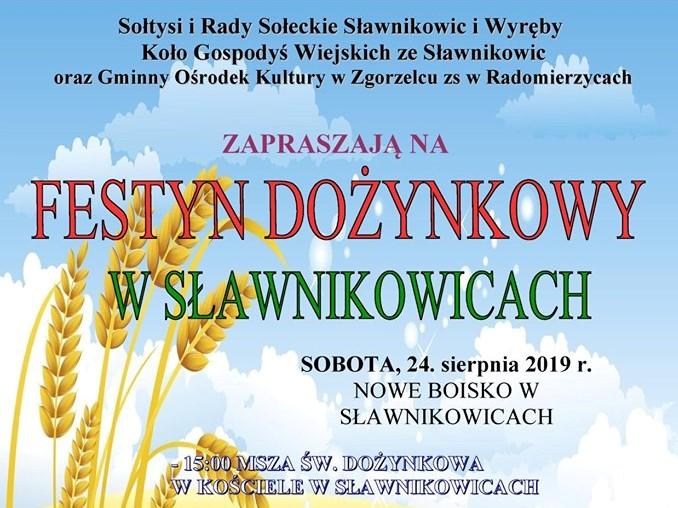 Festyn dożynkowy w Sławnikowicach