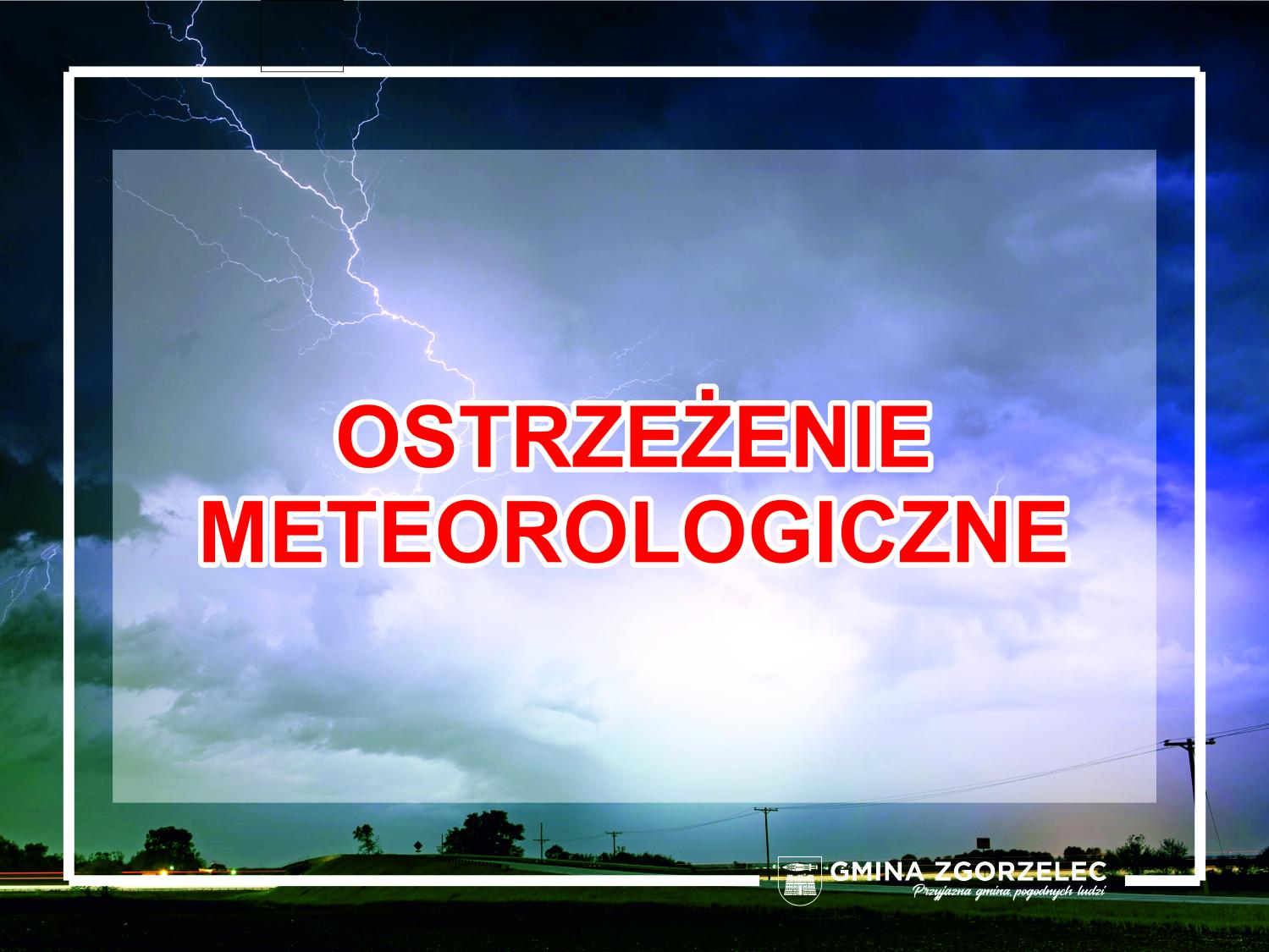 Ostrzeżenie meteorologiczne – silny wiatr