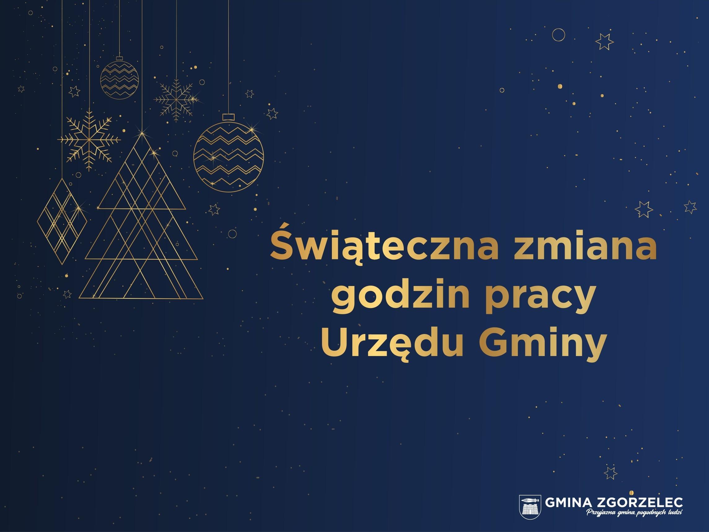 Zdjęcie dla wpisu -Świąteczna zmiana godzin pracy Urzędu Gminy