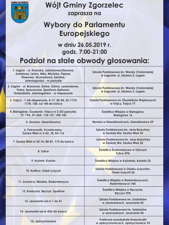 Podział na stałe obwody głosowania w Gminie Zgorzelec