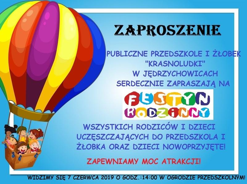 """Festyn rodzinny w Przedszkolu """"Krasnoludki"""" w Jędrzychowicach"""
