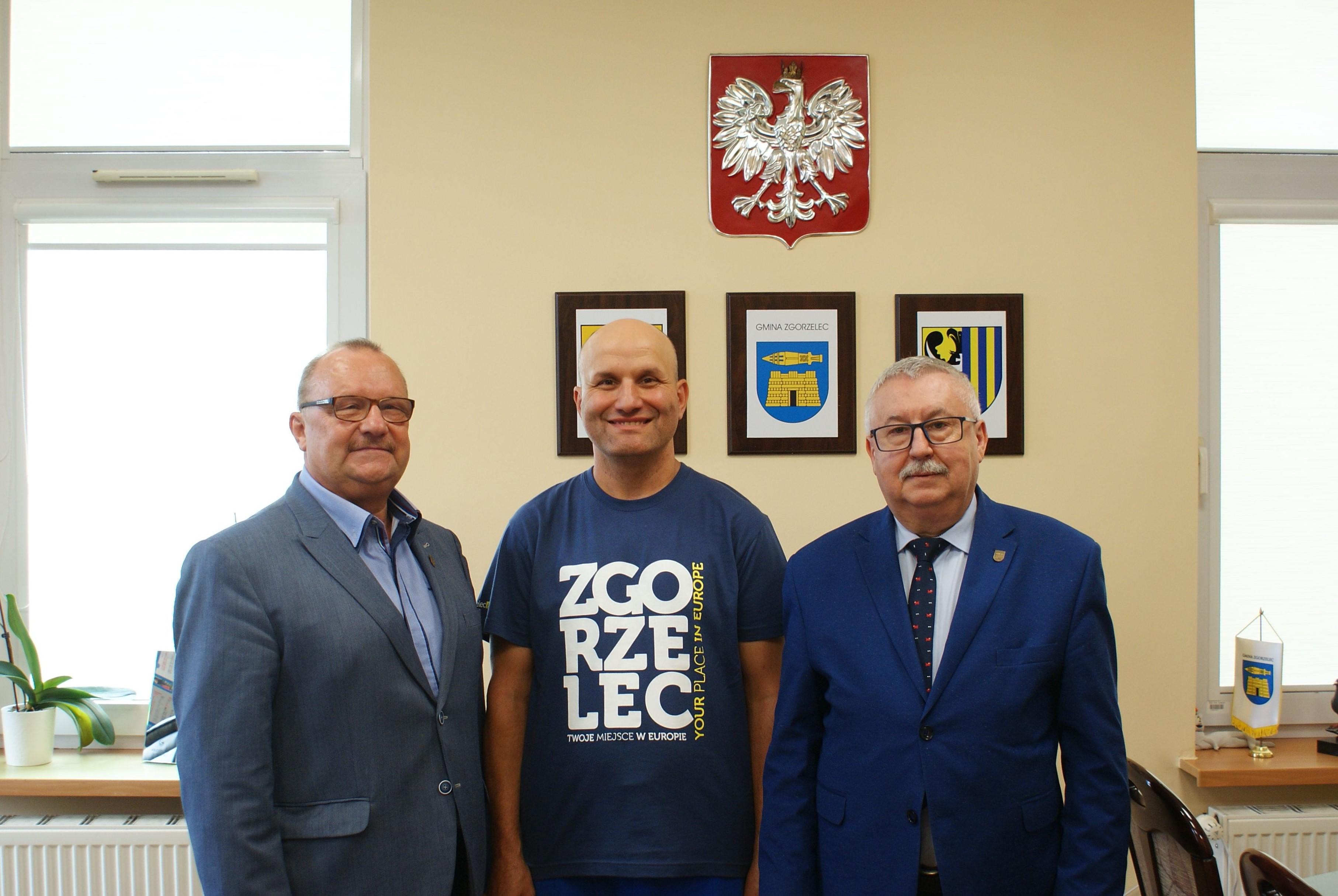 Tomasz Wędrowniczek odwiedził Urząd Gminy Zgorzelec