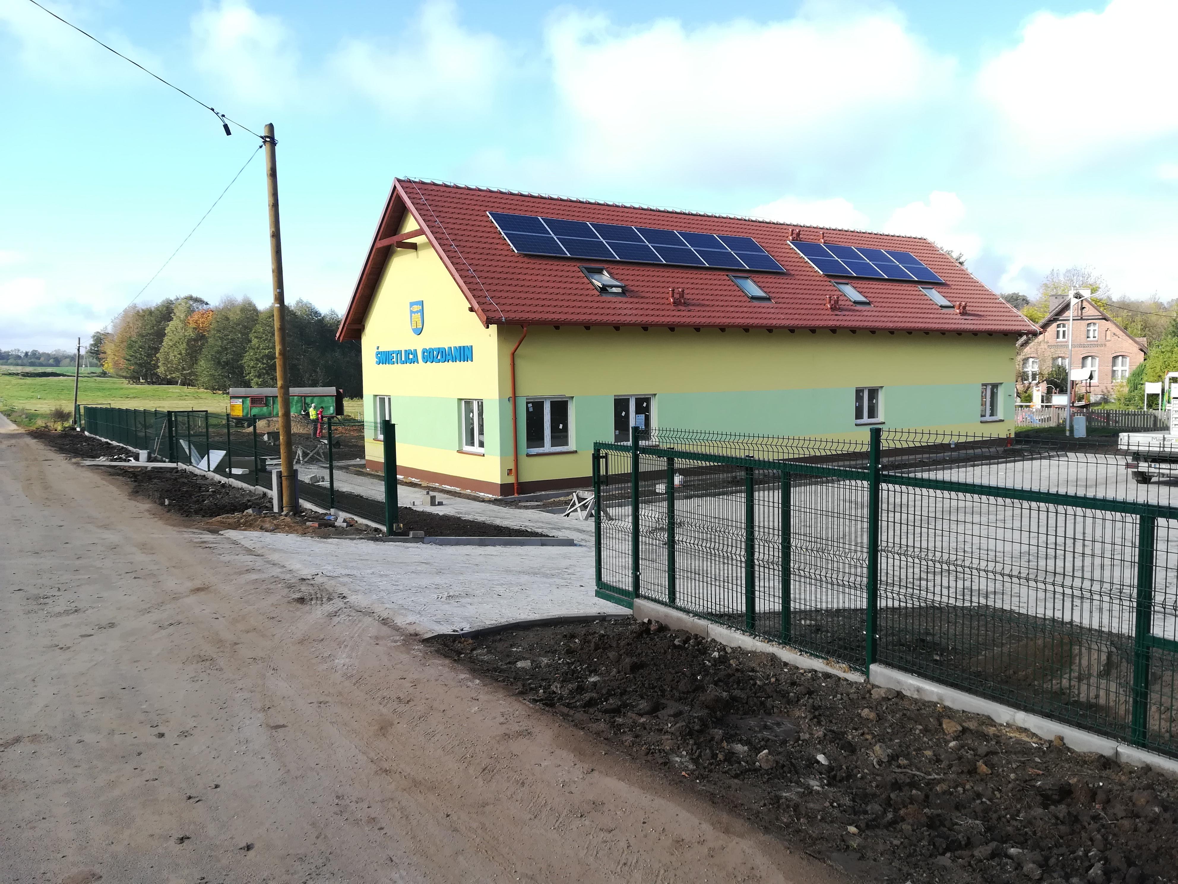 Nowa świetlica w Gozdaninie – zakończono prace budowlane