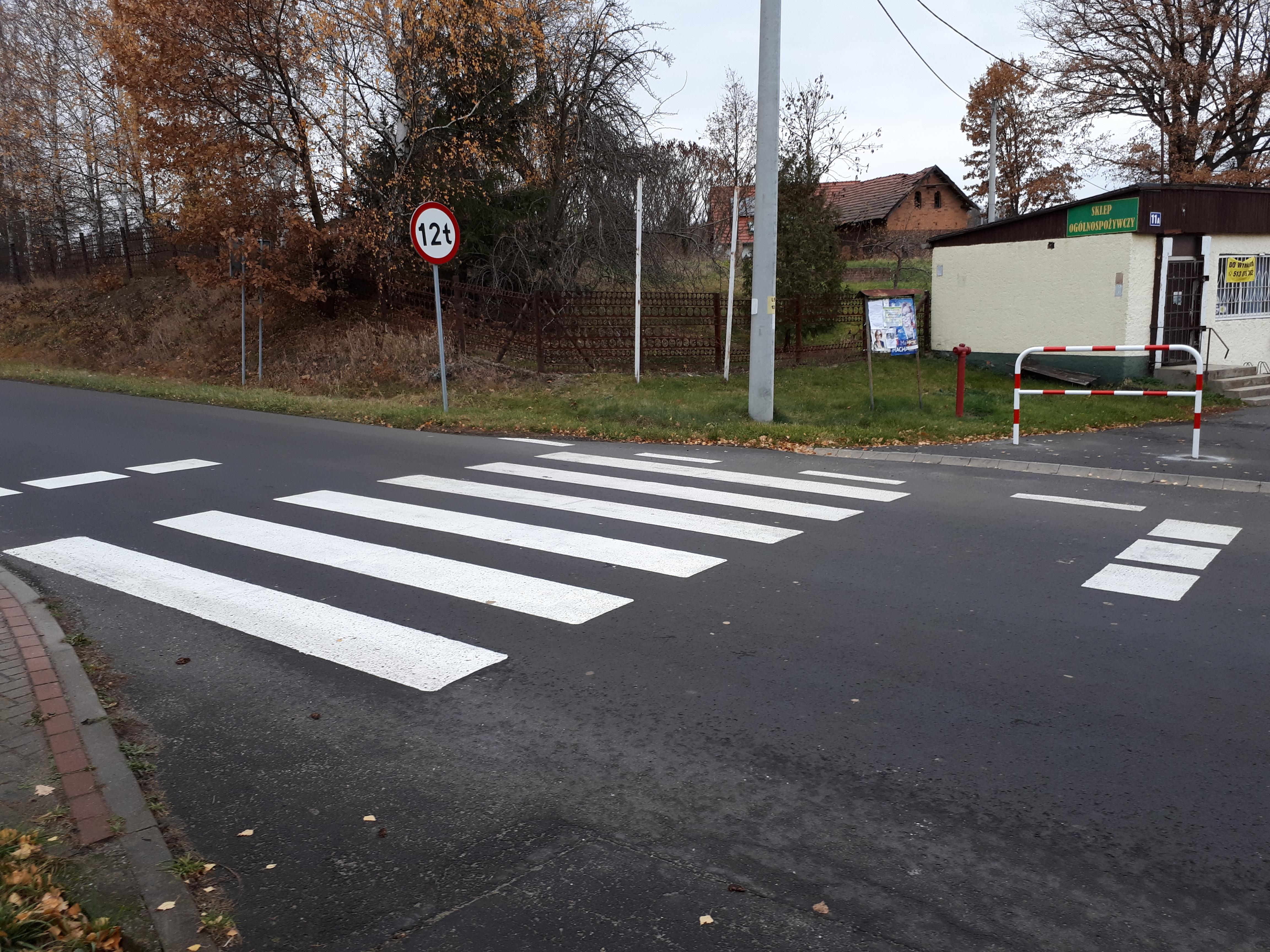 Nowe przejście dla pieszych w Tylicach
