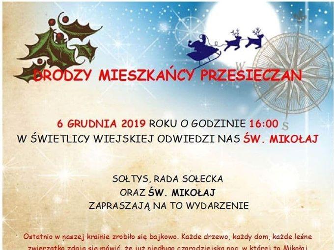 Spotkanie z Świętym Mikołajem w Przesieczanach