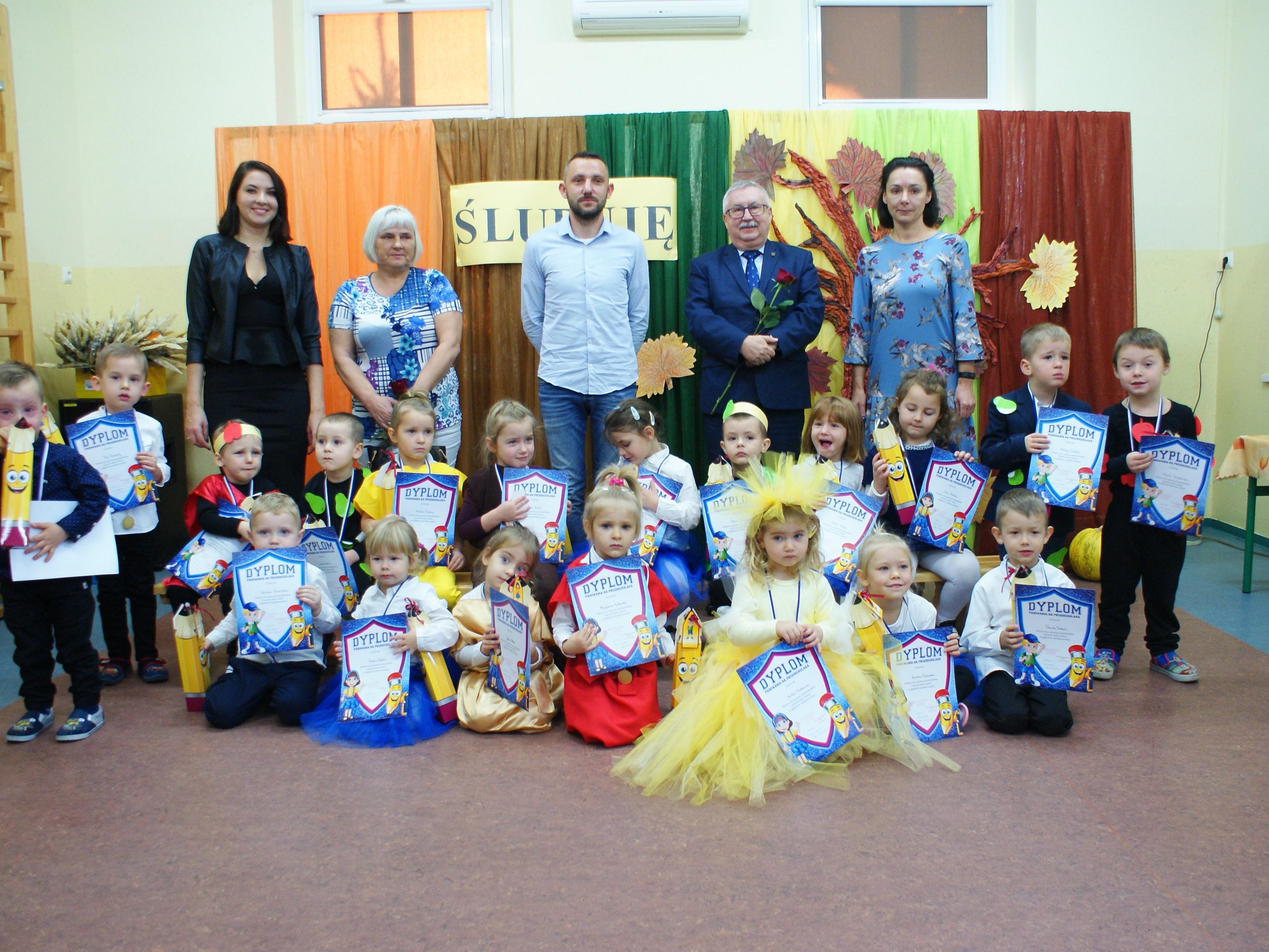 Pasowanie przedszkolaków w Łagowie