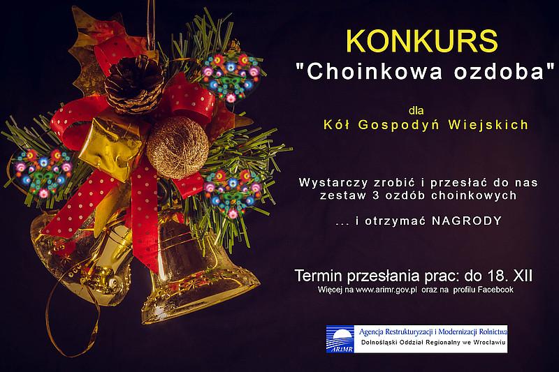 """ARiMR: Konkurs dla KGW pn. """"Choinkowa ozdoba"""""""
