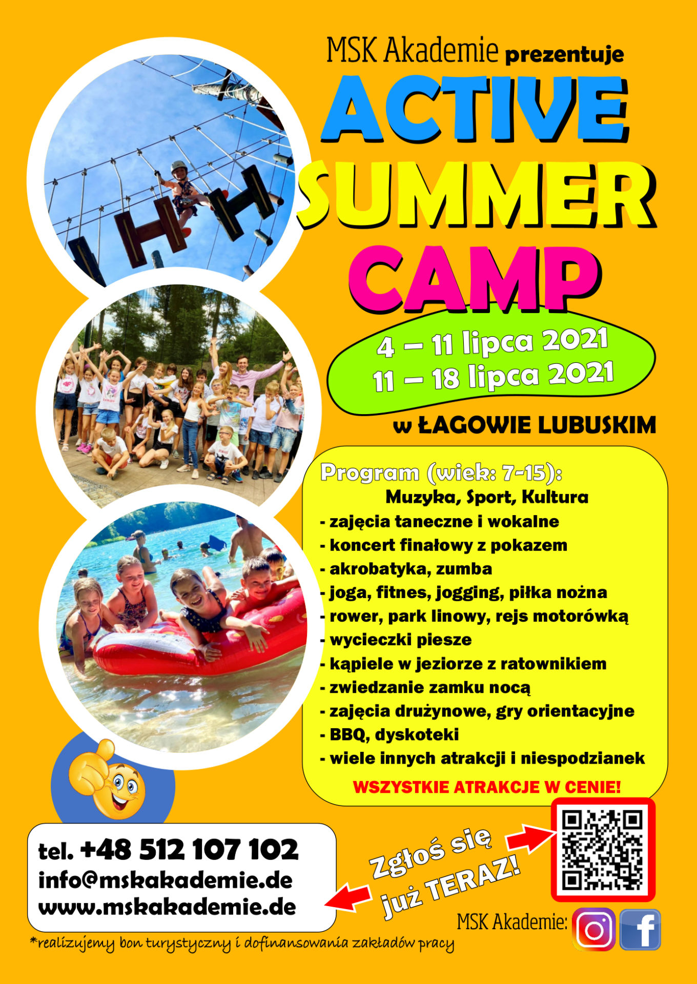Obóz letni – Active Summer Camp