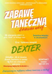 Zabawa taneczna w Jerzmankach – pożegnanie wakacji