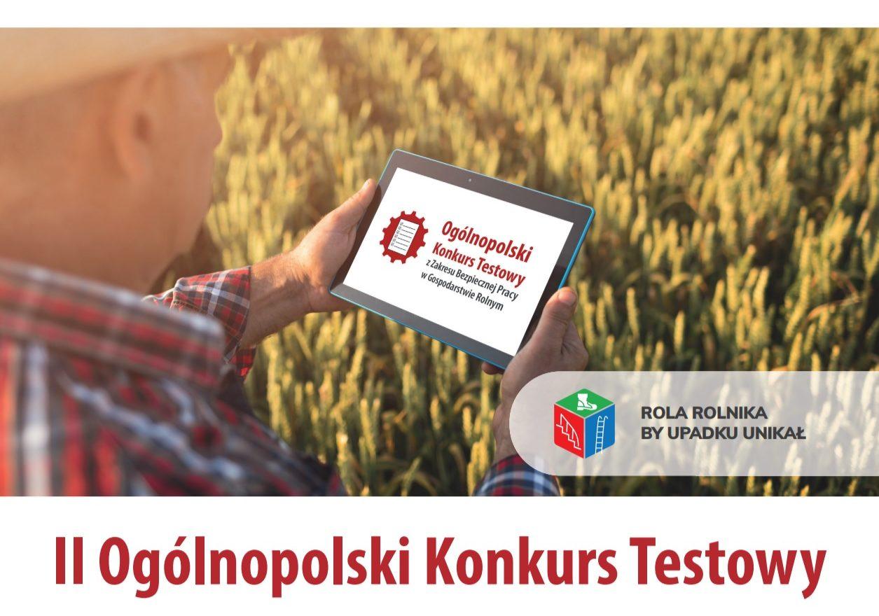 KRUS: I Ogólnopolski Konkurs Testowy z Zakresu Bezpiecznej Pracy w Gospodarstwie Rolnym – Rola Rolnika, by upadku unikał